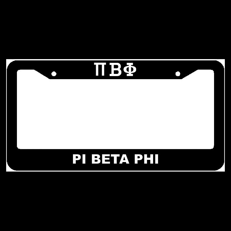 Pi Beta Phi License Plate Frame