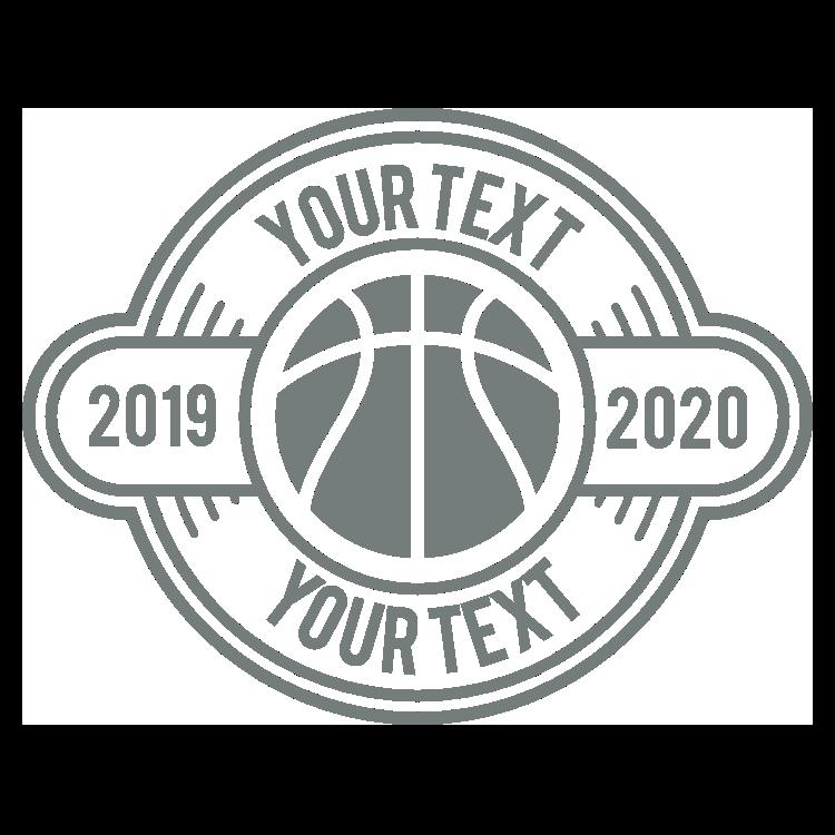 Custom Cut-Out Text Basketball Circle Sticker