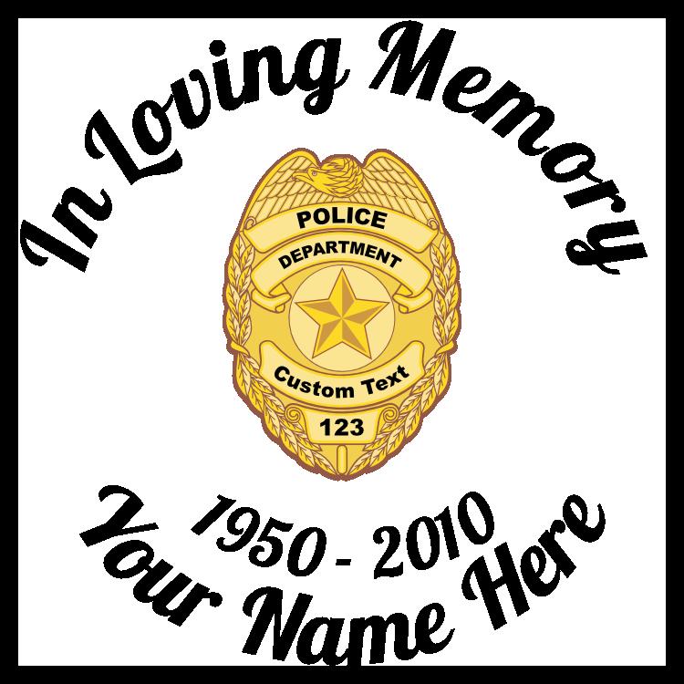 In Loving Memory Police Badge Sticker