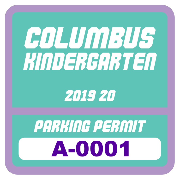 Parking Permit Square 7