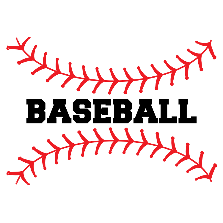 Custom Baseball Seams with Text Magnet