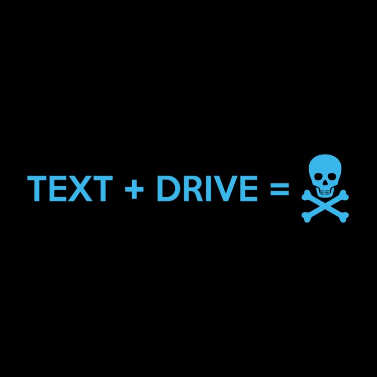 Text + Drive Customizable Bumper Sticker