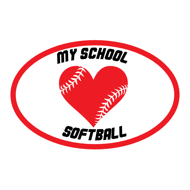 Custom Heart with Softball Seams in an Oval
