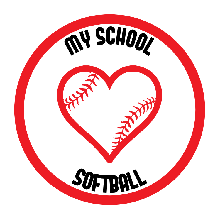 Custom Love Softball Circle Magnet