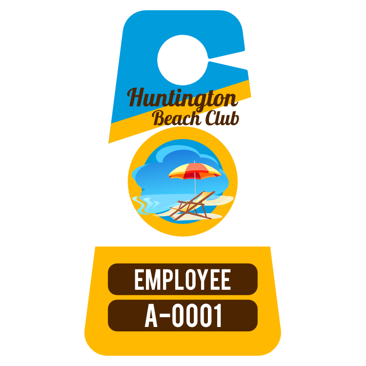 Multi Color Triangle Employee Parking Permit Hang Tag