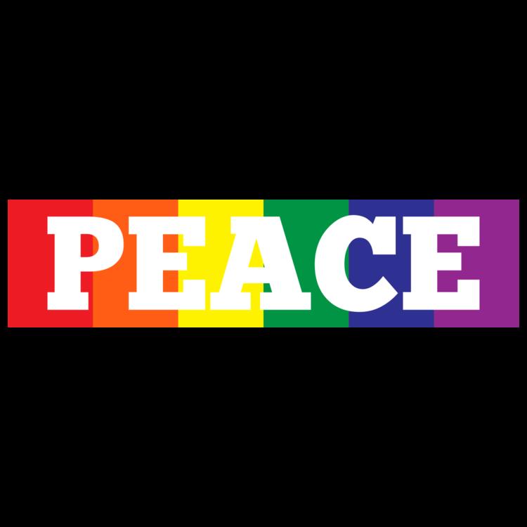 Peace Rainbow Customizable Bumper Sticker