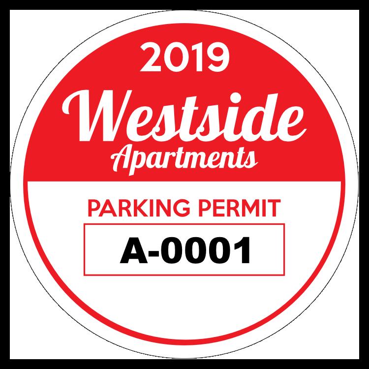 Apartment Circle Parking Permit Sticker