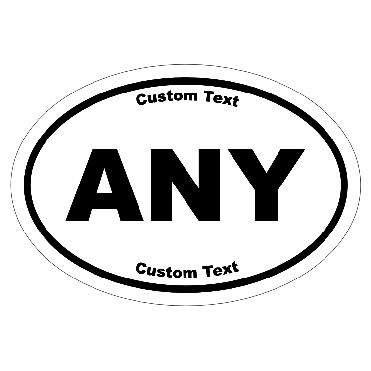 Custom Oval Roll Label with Text