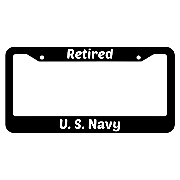 Retired United States Navy License Plate Frame