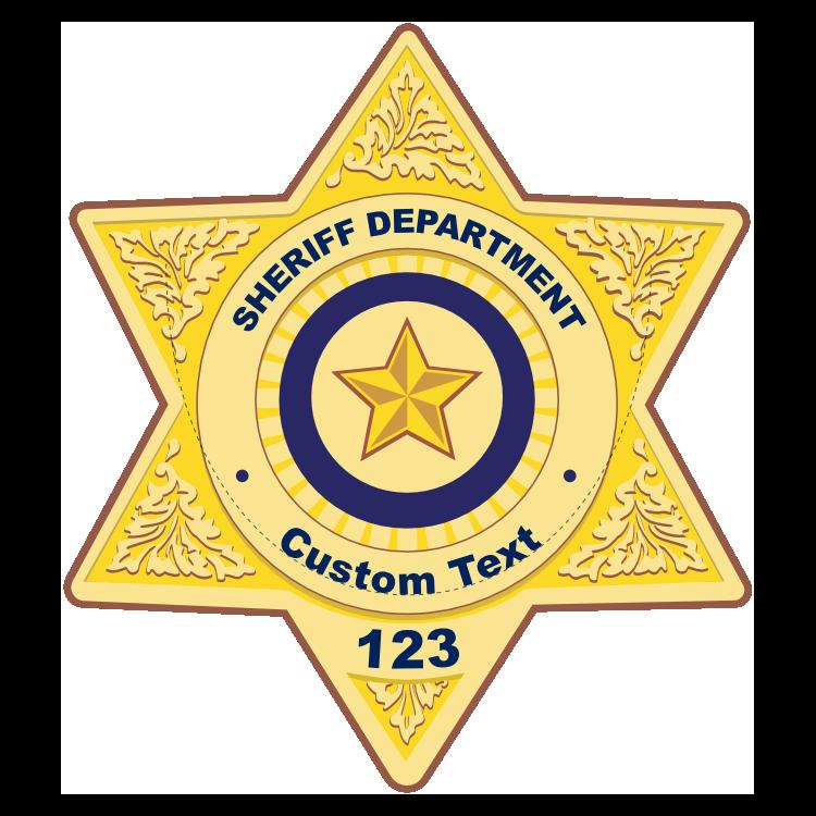 Custom Sheriff Badge Magnet