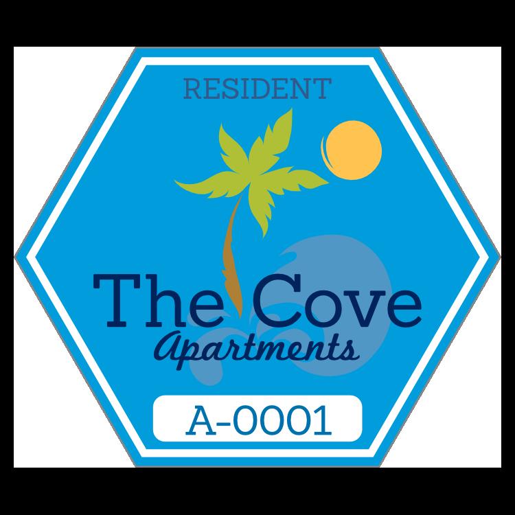 Hexagon Apartment Parking Permit Sticker