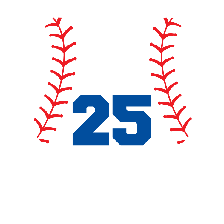 Custom Heart Softball Sticker with Number