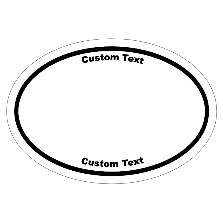 Custom Oval Roll Label with Your Logo