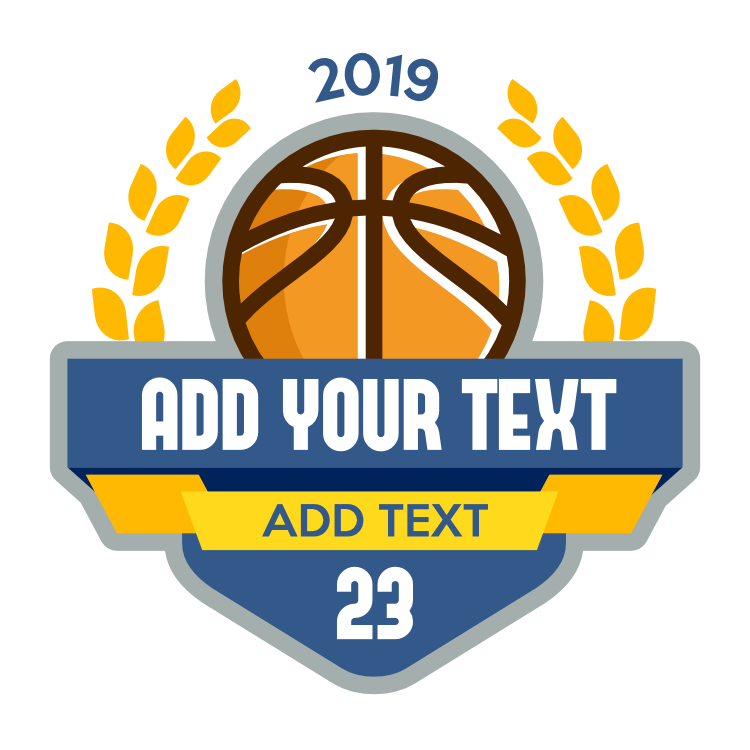 Custom Basketball Banners with Your Text and Leaves