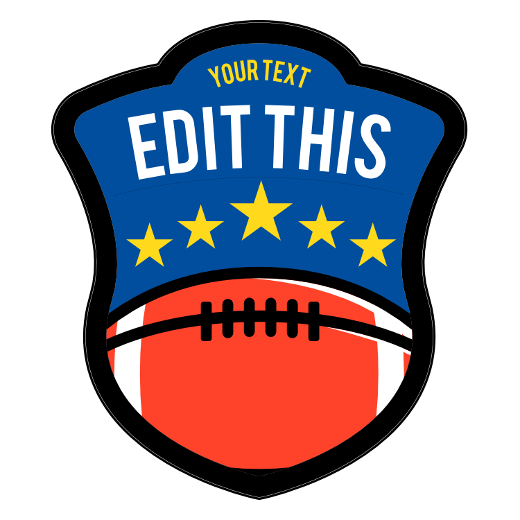 Custom Football Patch with Stars