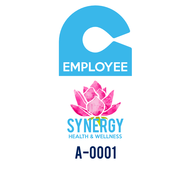 Employee Oval Hang Tag Parking Permit