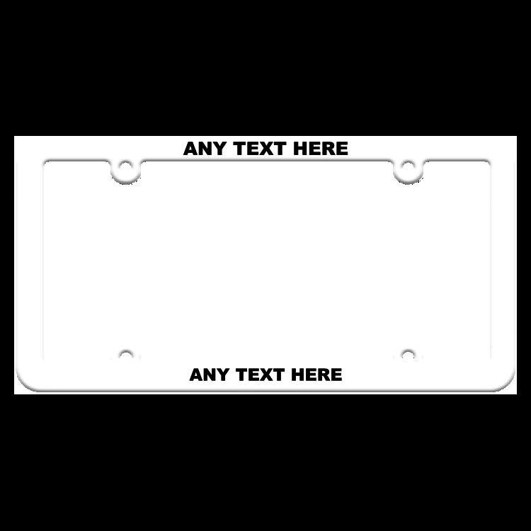 Thin Custom High View White Plastic Frame