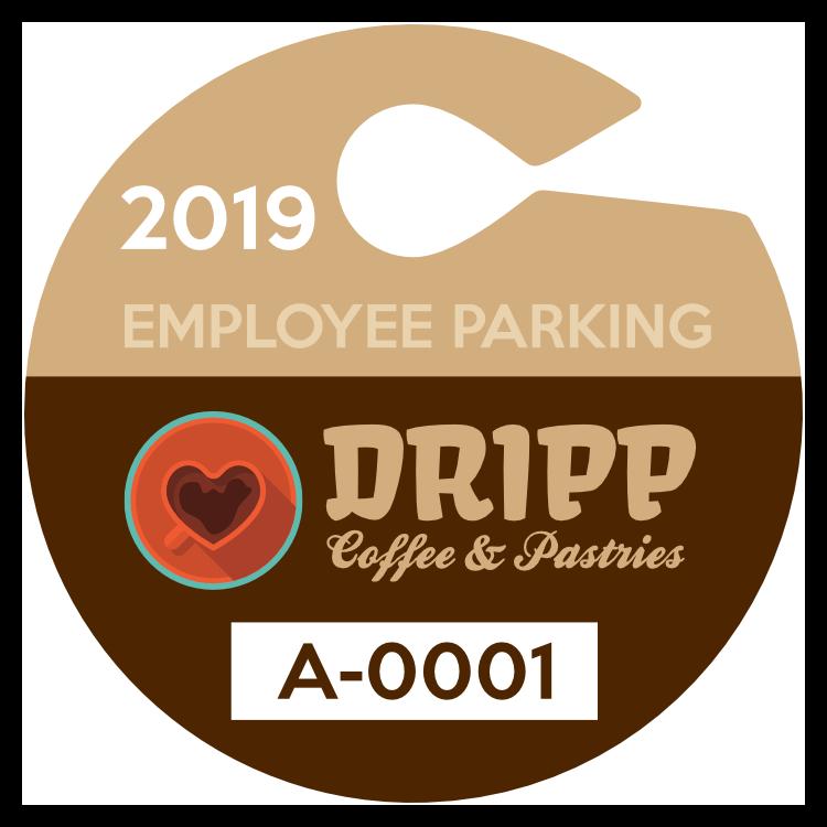 Circle Employee Hang Tag Parking Permit