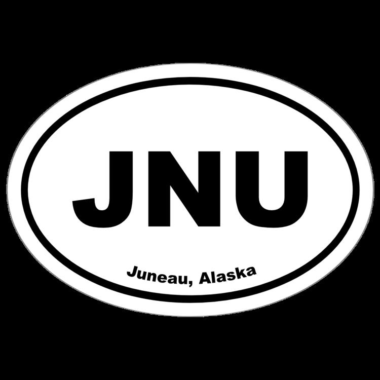 Juneau, Alaska Oval Stickers