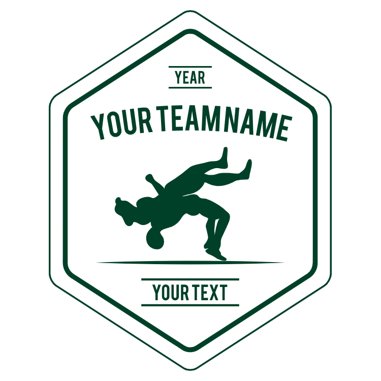 Custom Wrestling Team Diamond Transfer Sticker