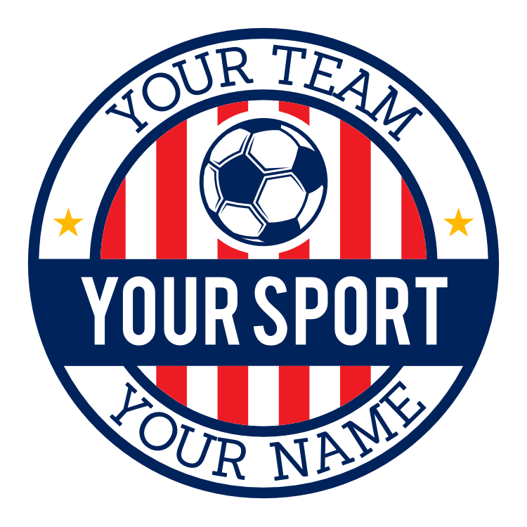 Custom Striped Circle Soccer Sticker