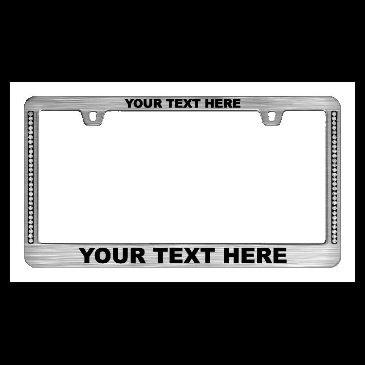 Custom Diamond Neo Chrome License Plate Frame