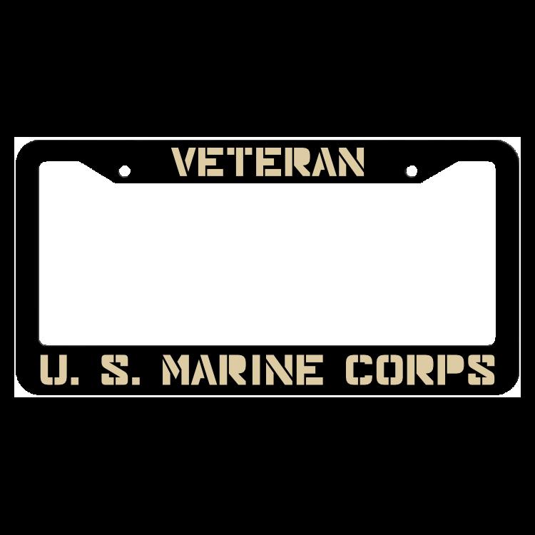 Veteran United States Marine Corps License Plate Frame
