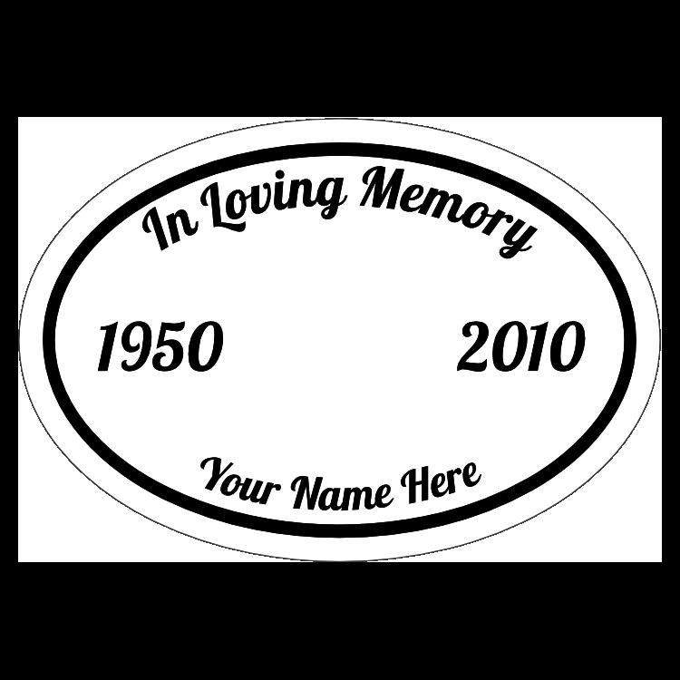 In Loving Memory Oval Sticker