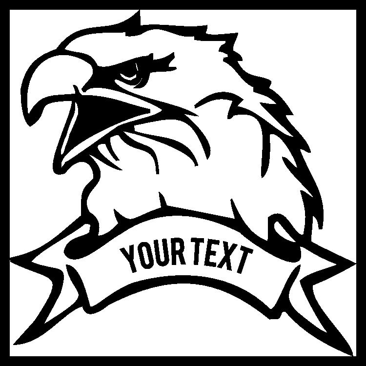 Eagle Bird Sticker With Custom Wording