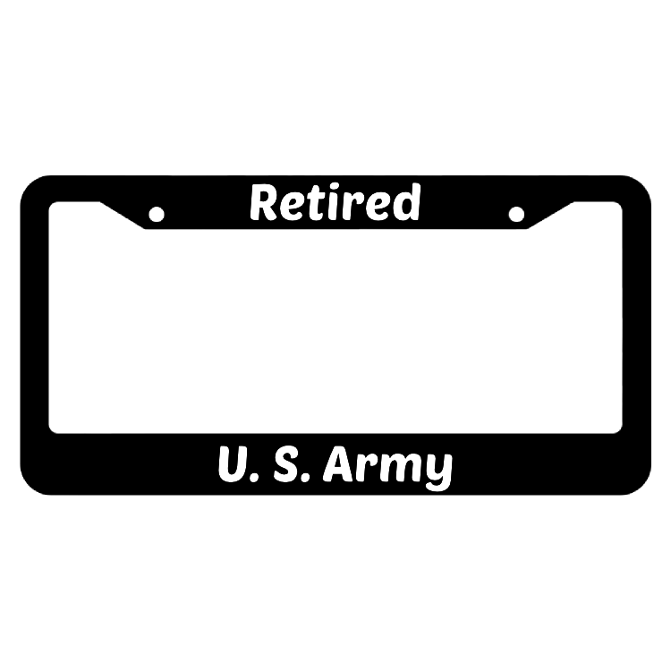 Retired United States Army License Plate Frame