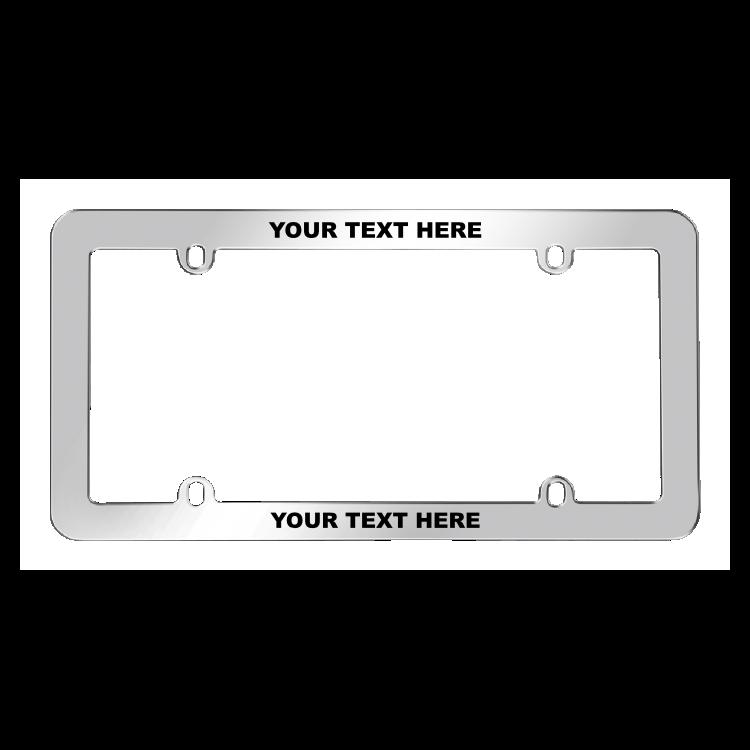 Stainless Steel Custom License Plate Frame