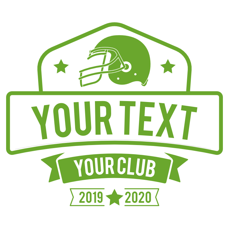Custom Your Text Football Sticker with Simple Color
