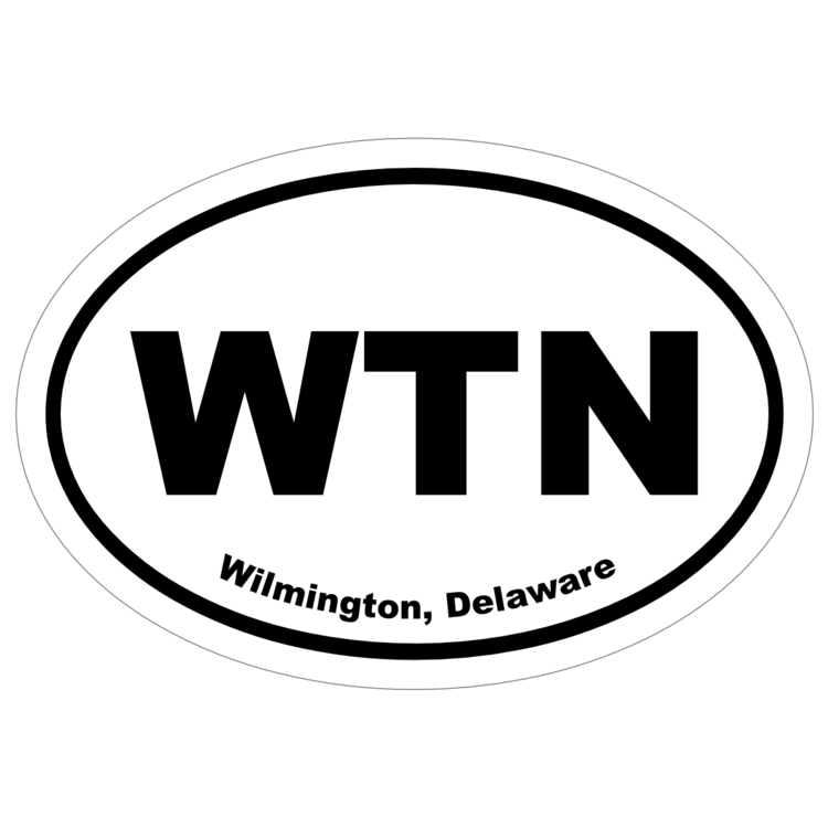 Wilmington, Delaware Oval Stickers