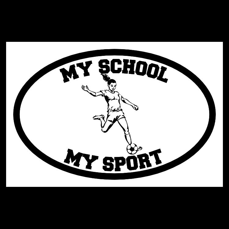 Custom Soccer Girl Oval Sticker