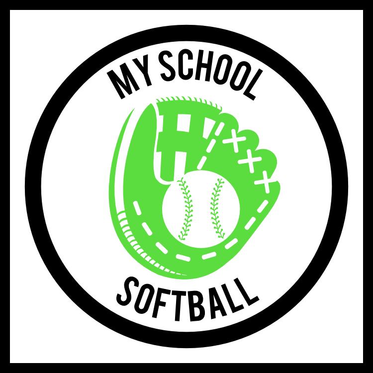 Custom Softball Mitt Circle Sticker