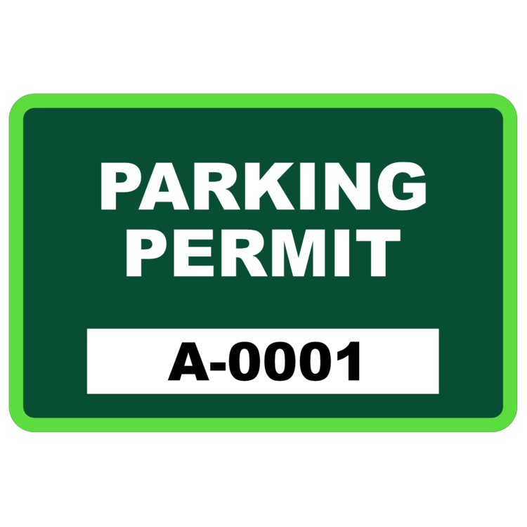 Parking Permit Rectangle 8