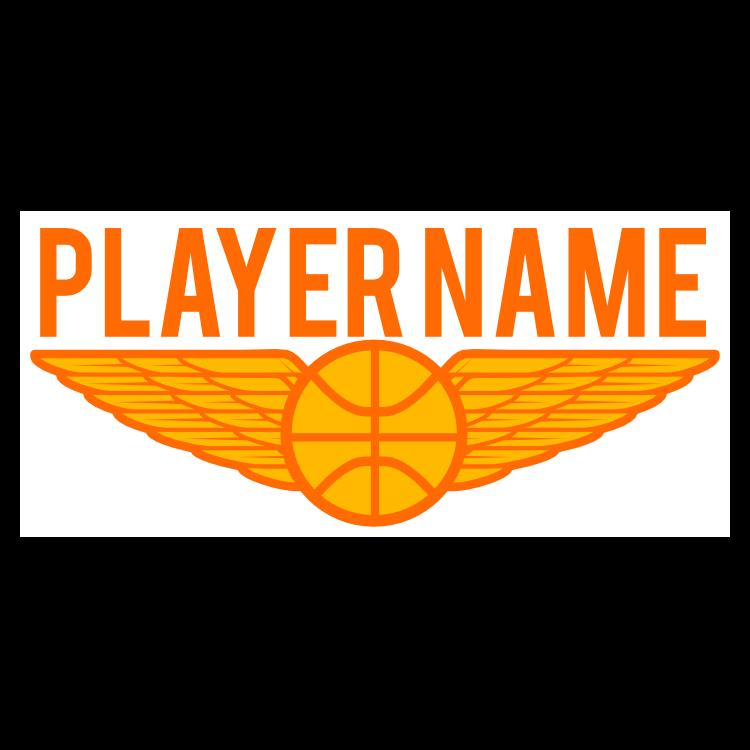 Custom Player's Name Basketball Wing Sticker