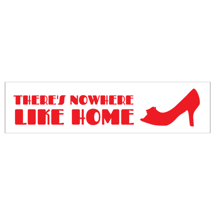 Nowhere Like Home Customizable Bumper Sticker