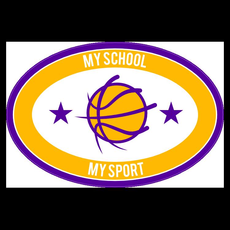 Custom Oval with Stars Basketball Sticker