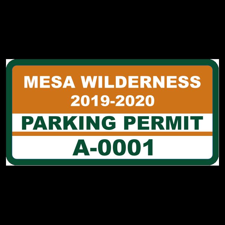 Parking Permit Rectangle 10