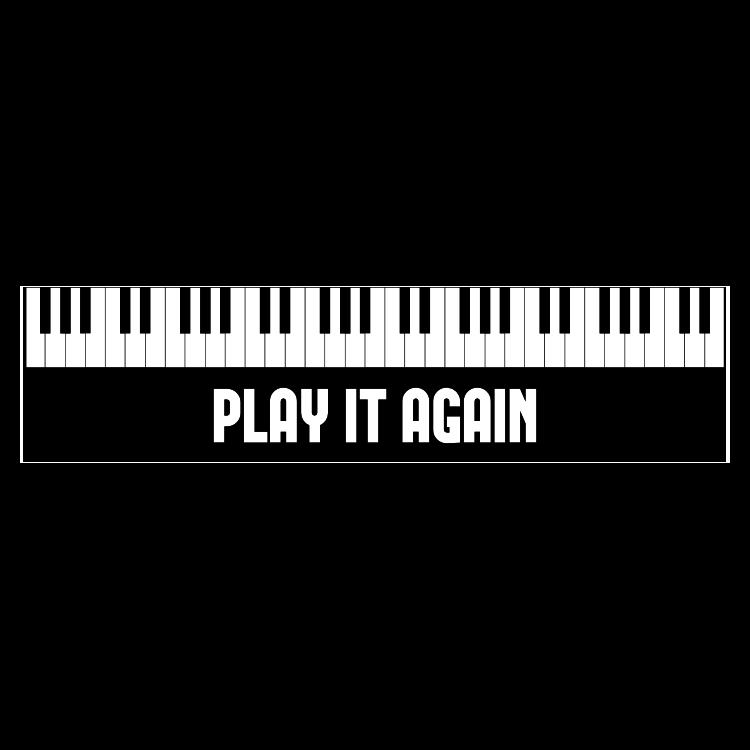 Play It Again Customizable Bumper Sticker