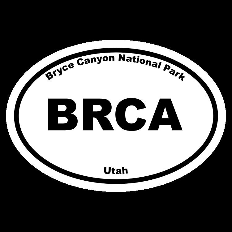 Bryce Canonyon National Park Oval Sticker