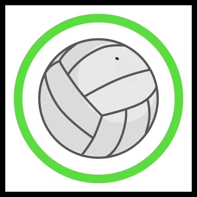 Custom Volleyball Circle Sticker