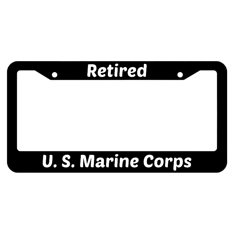 Retired United States Marine Corps License Plate Frame