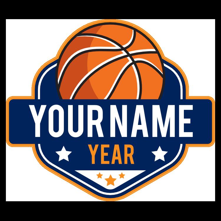 Custom Personal Basketball Sticker