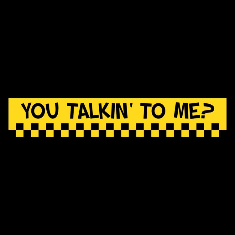 You Talkin To Me Customizable Bumper Sticker