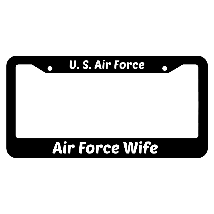 Air Force Wife United States Air Force License Plate Frame