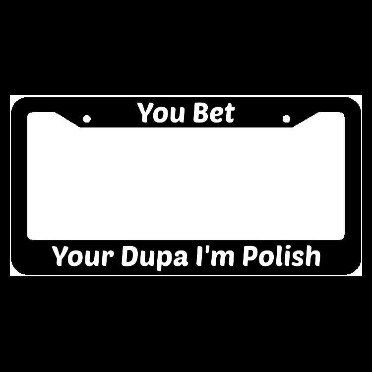 Im Polish Metal License Plate