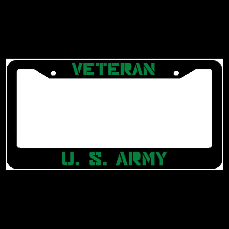 Veteran United States Army License Plate Frame