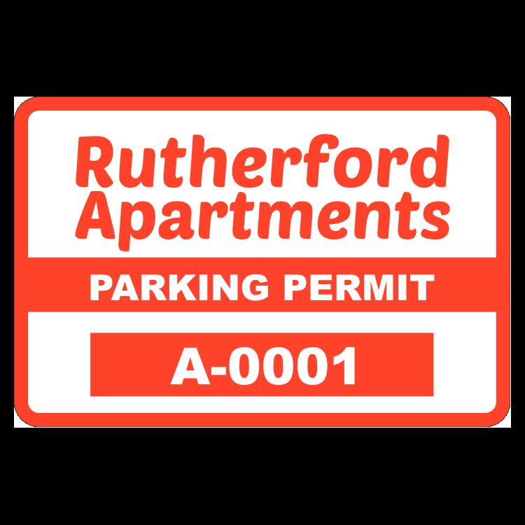 Parking Permit Rectangle 2
